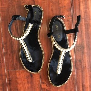 Jeffrey Campbell pearl studded sandals, size 9